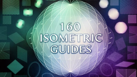 160 Isometric Guides (PNG, Brushes)