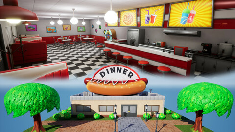 Stylized Dinner Cafe