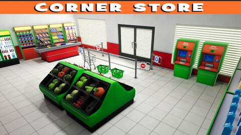 Stylized Corner Store