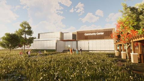 Revit Community center 2020 3D model