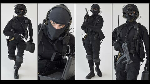 FEMALE MILITARY OPERATOR| Reference Pack