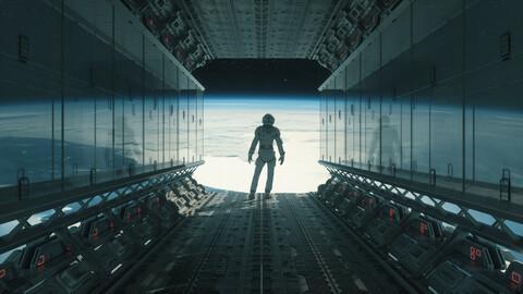 C4D Octane Astronaut Space Alien Universe Space Alien planet Spacecraft Cabin Scenes
