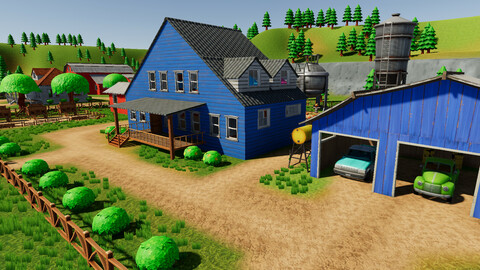 Stylized Farm Village