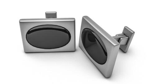 The silver cufflink