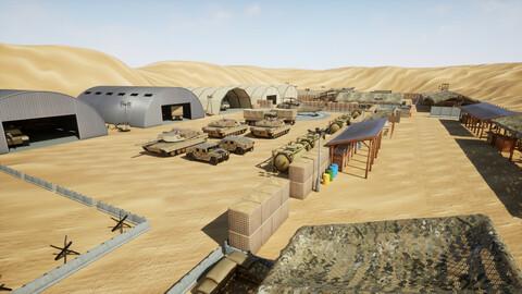 Stylized Military Base