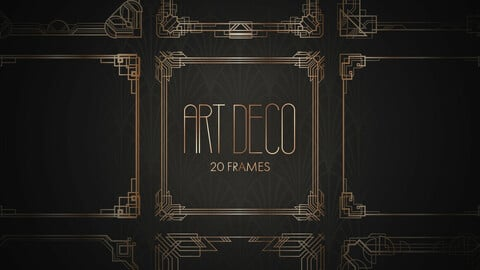 Art Deco Frames Set