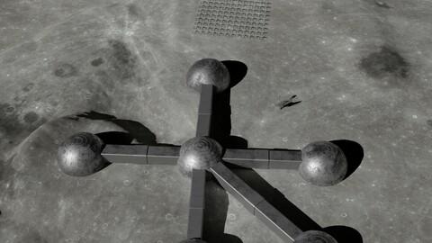 Moon base 3D model