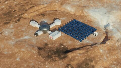 Martian base 3D model