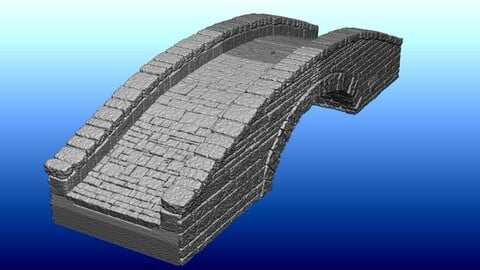 Fantasy Stone Bridge for 3D Printing