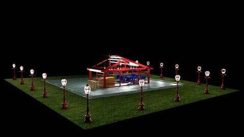 3D Modern Cafe Design