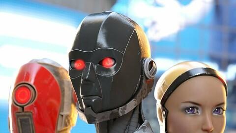 ArcTek Cybernetic Heads for Genesis 8 Female
