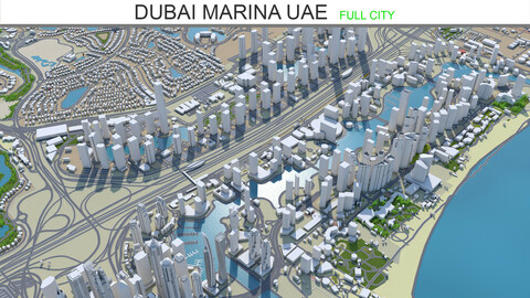 Dubai Marina city UAE  3d model 6km