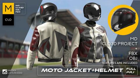 Motorcycle Jacket + Helmet (male outfit)