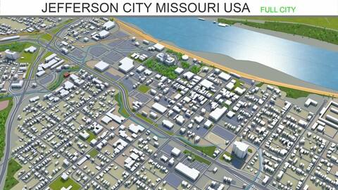Jefferson City Missouri USA 3d model 30km