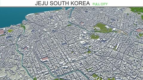 Jeju city South Korea 3d model 120km