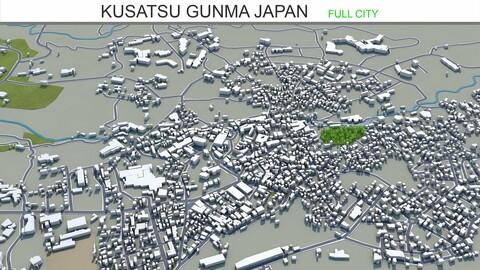 Kusatsu city Gunma Japan 3d model 15km