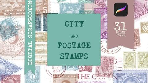 Postage stamps Procreate