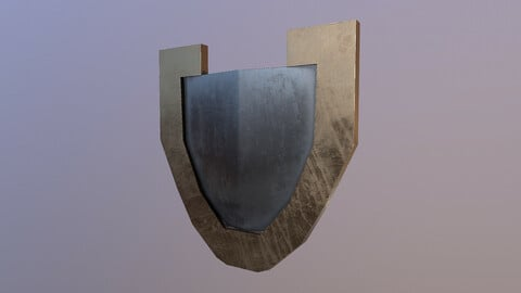 Low Poly Shield 3D Model