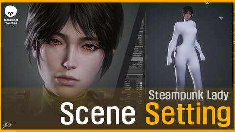Steampunk Lady_Scene Setting