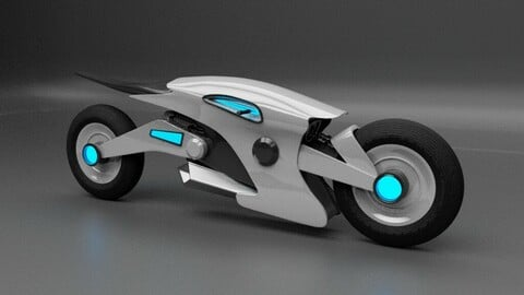 Sci-fi motorcycle