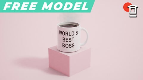 FREE - Best Boss Mug with Steam Particle