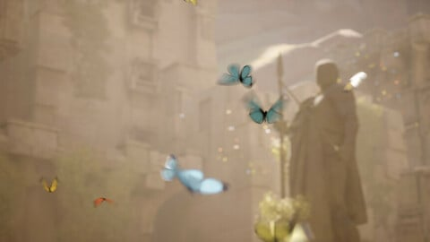 Simple Butterfly Particle System