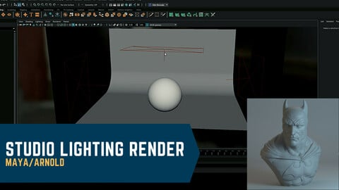 Studio Lighting Render - Maya/Arnold