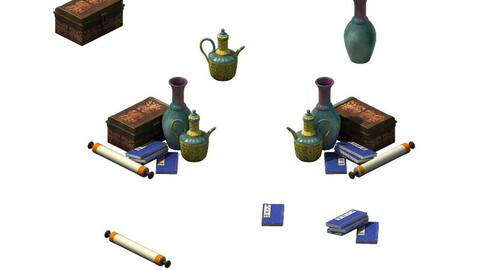 Game model- calligraphy painting kettle teapot