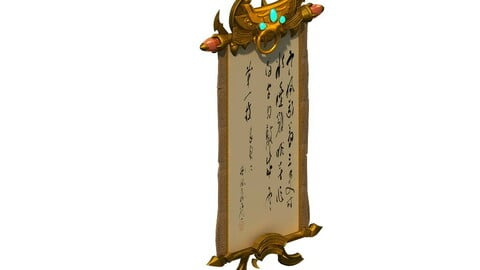 Game model - decorations - hanging scroll painting