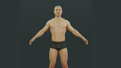 Man – 3D CHARACTER / Base mesh