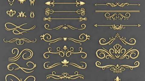 Free 3d model ornament Pack