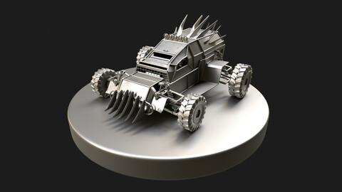 Monster Buggy, HP model. (Obj + zbrush project).