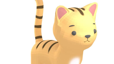 Cartoon Cat 3D Model