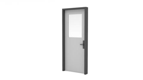 modern lowpoly door
