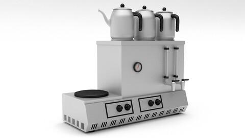 3d turkish tea stove