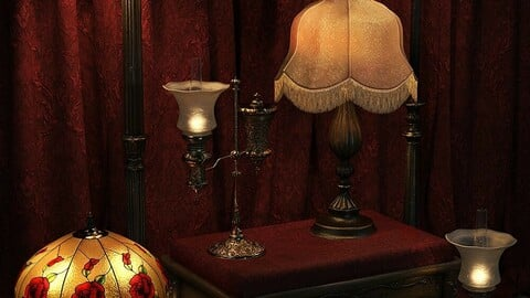 Vintage Lamps Iray