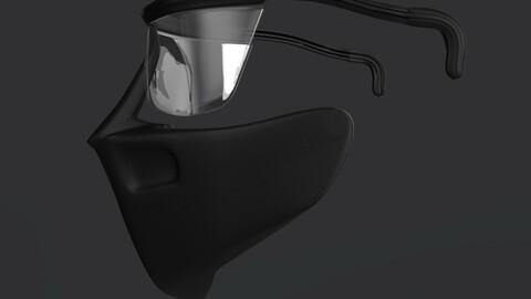 Futuristic mask Version Beta 1.1.2 - STL Digital Files - 3D Printable
