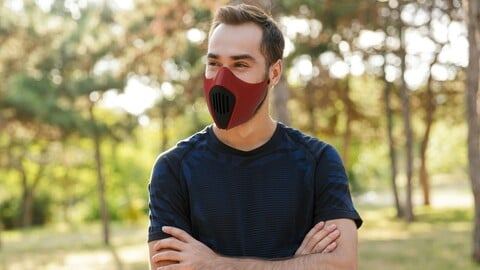 Futuristic mask Version Beta 1.2.1 - STL Digital Files - 3D Printable