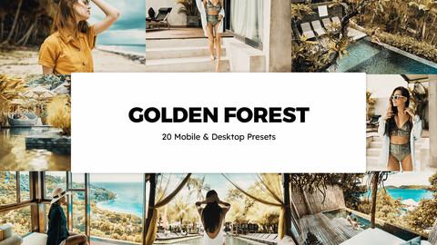 20 Golden Forest LUTs and Lightroom Presets