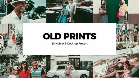 20 Old Prints LUTs and Lightroom Presets
