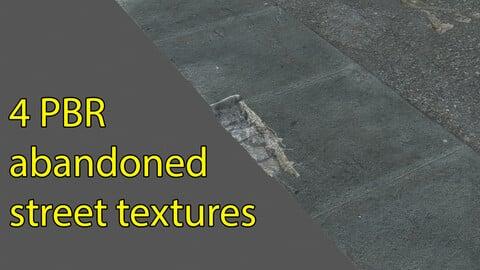 Abandoned street textures 4K