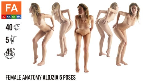 Female Anatomy | Alojzia 5 Gymnastic Poses | 40 Photos