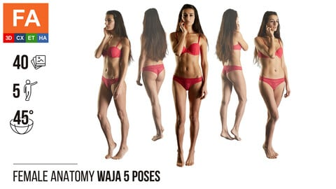 Female Anatomy | Waja 5 Various Poses | 40 Photos