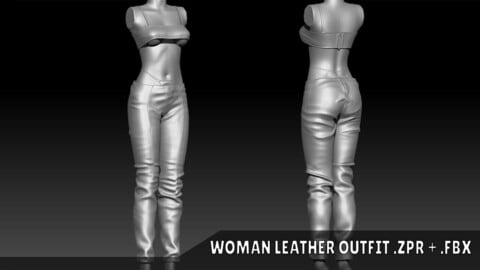 Woman Leather Outfit
