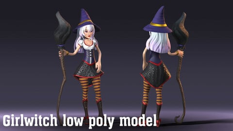 Girlwitch low poly model
