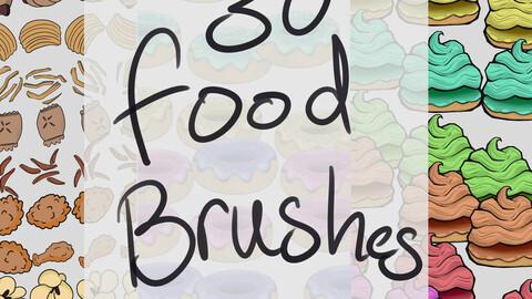 30 Food Brush Pack