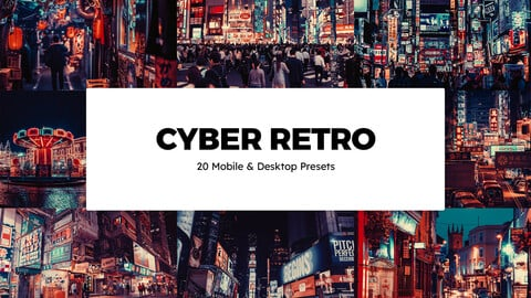 20 Cyber Retro LUTs and Lightroom Presets