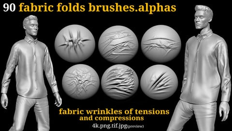 90 fabric folds and wrinkles (tensions and compressions)