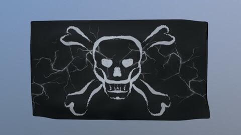 Pirate Flag 3D Model free