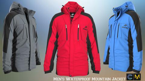 Men's Waterproof Mountain Jacket , marvelous designer,clo3d